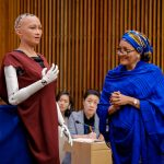 When Robot Sophia joins meeting on artificial intelligence and sustainable development