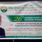 Mustafa Balarabe Shehu, Past President of Federation of African Engineering Organizations (FAEO)  to Deliver 2017 NSE October Lecture