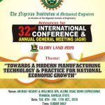 """NIMECHE INTERNATIONAL CONFERENCE AND AGM """"GLORY LAND 2019"""" : CALL FOR PAPER"""