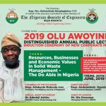 2019 Olu AwoyinFa Annual lecture to Explore Business and Economic values in Solid Wastes