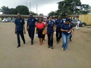 Ikeja Engineers Kick-Off Engineering Week with Public awareness on usage of pedestrian bridges