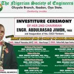 MEET ENGR. ABDULRASAQ JIMOH THE SECOND CHAIRMAN OF NSE OLUYOLE BRANCH