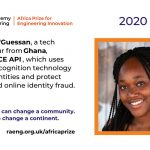 26 Year old Ghanaian becomes First woman to win the Africa Prize for Engineering Innovation