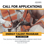 CALL FOR APPLICATIONS: July 2021 Cohort of the Energy Talent Program.