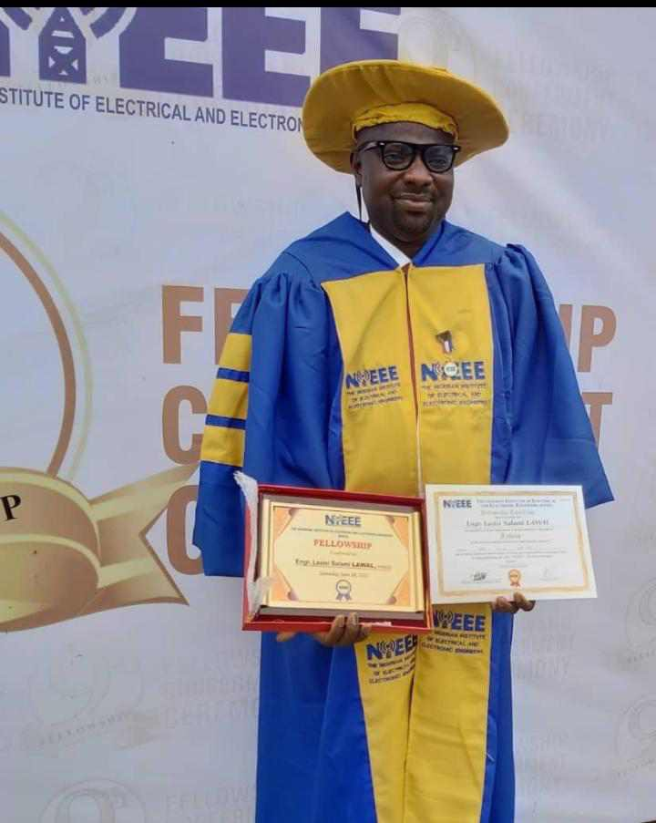 Dr Lasisi Lawal, a top  Satellite Communication expert, Others Bagged Fellowship of Electrical Engineering Institute